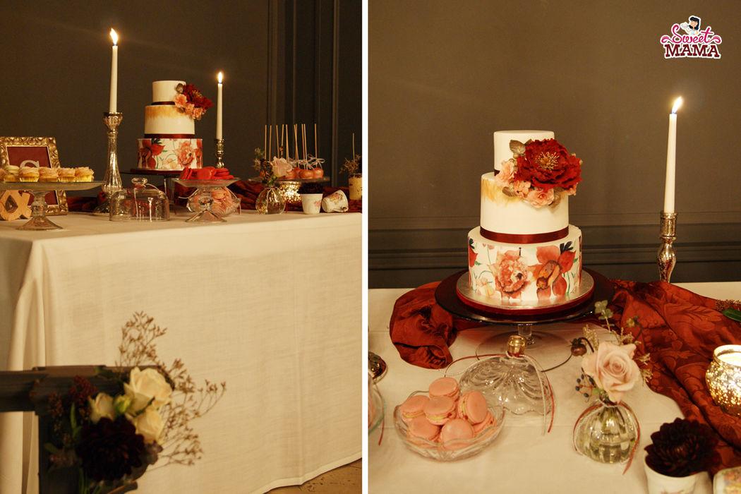 Marsala Chic _ una mesa dulce con mucho drama y mucho glamour, en El Principal de l'Eixample.