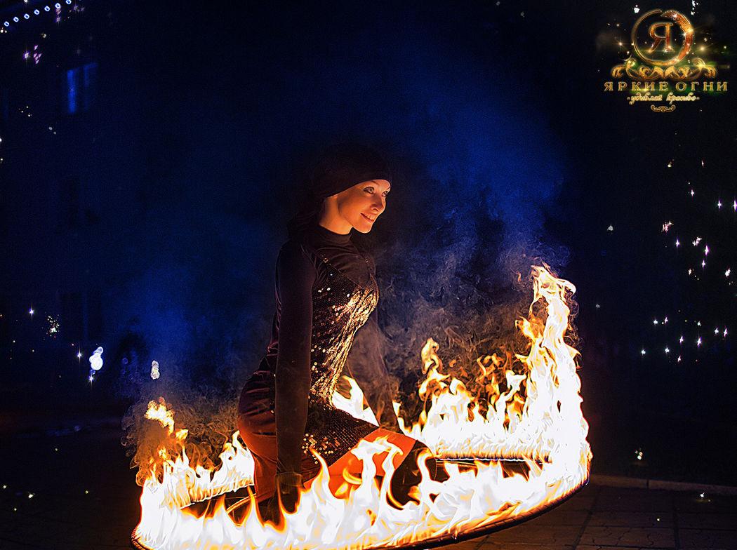 Огненное шоу Яркие огни