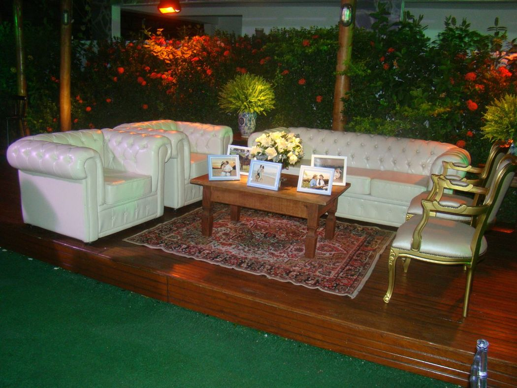 Lounge no gramado