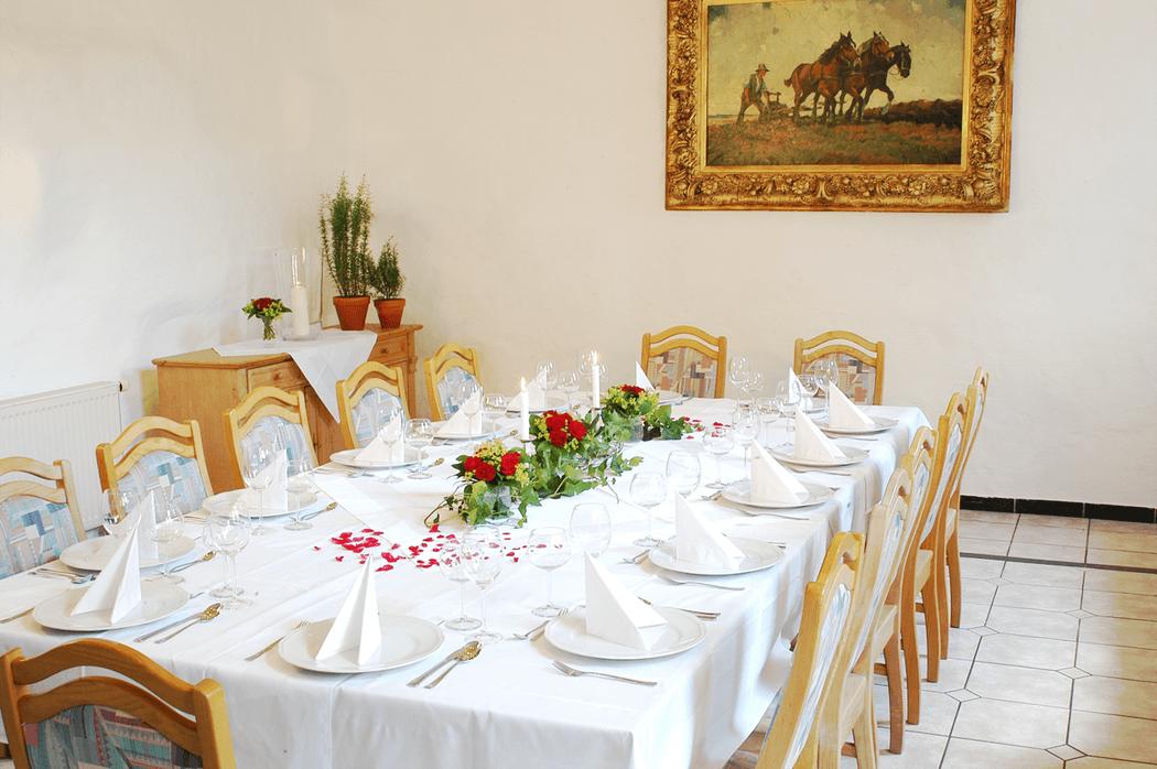 Beispiel: Gaststube, Foto: Landgasthof Weisser Löwe.