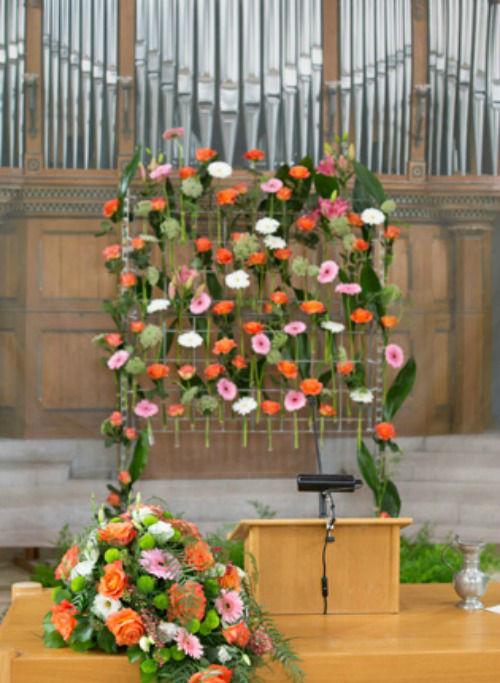 Beispiel: Kirchenschmuck, Foto: Sommerer Blumen.