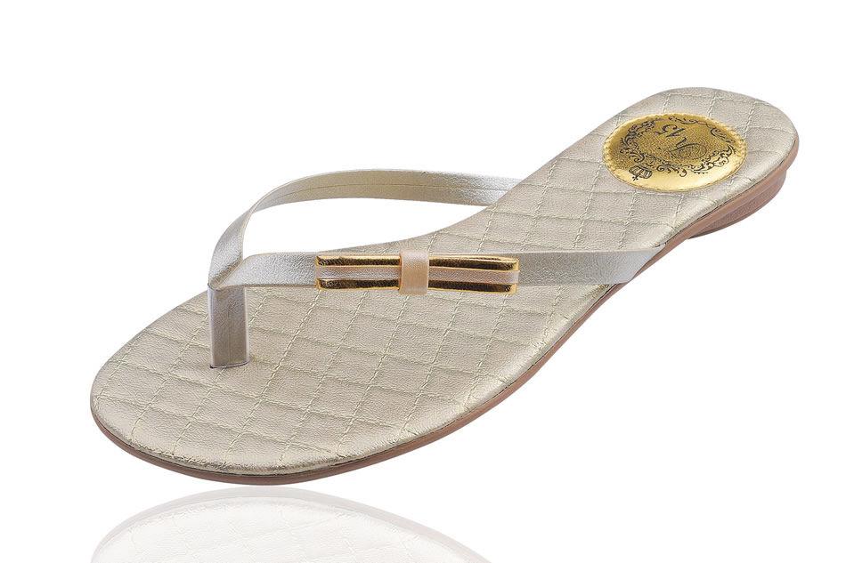 Slim Clean Palmilha Matelassê com Laço Chanel Borda Dourada