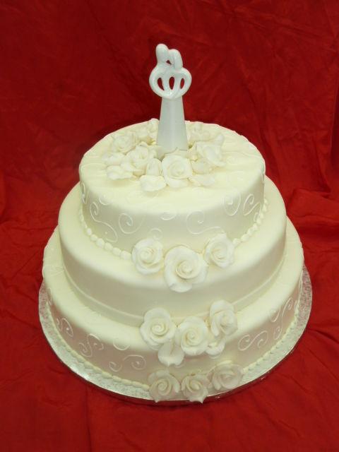 Beispiel: Hochzeitstorte - dreistöckig, Foto: Cafe Kiess.
