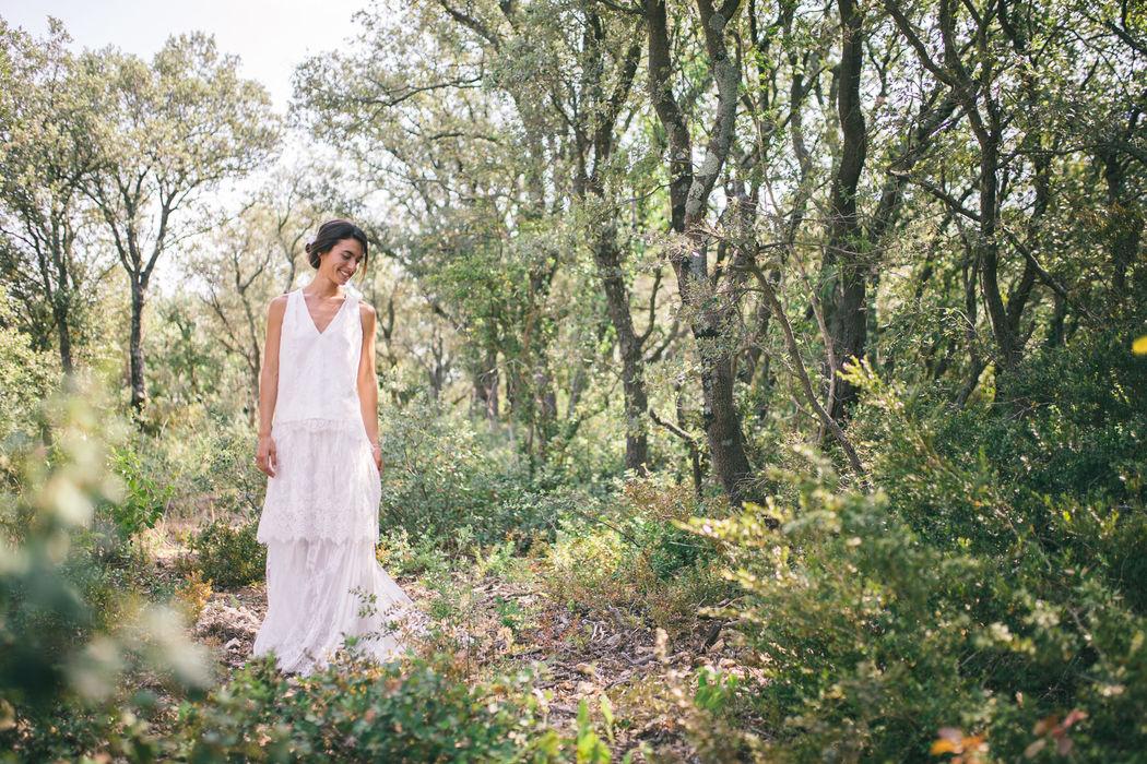 Robe de mariée en soie : Léonore