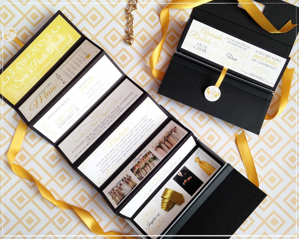 Convite Padrinhos Orientações | Giselle Branco