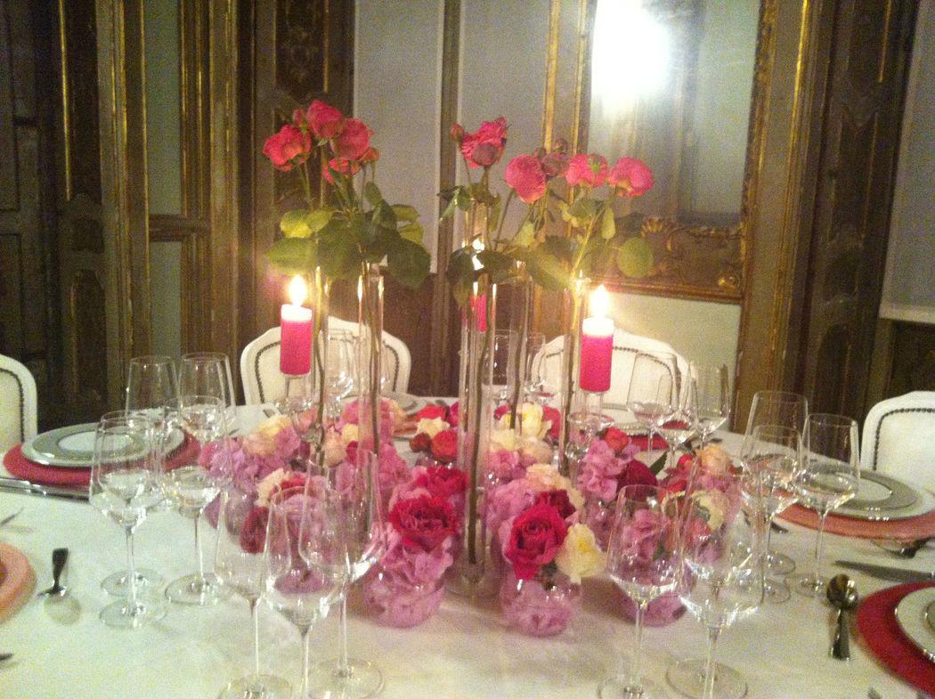 La Regina Bianca Eventi-Mise en place romantica