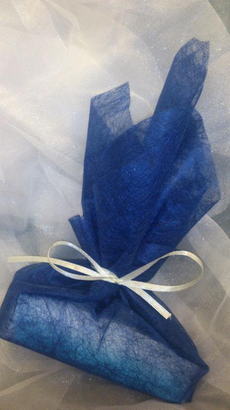 Jabón personalizado, con decoracion de tela.