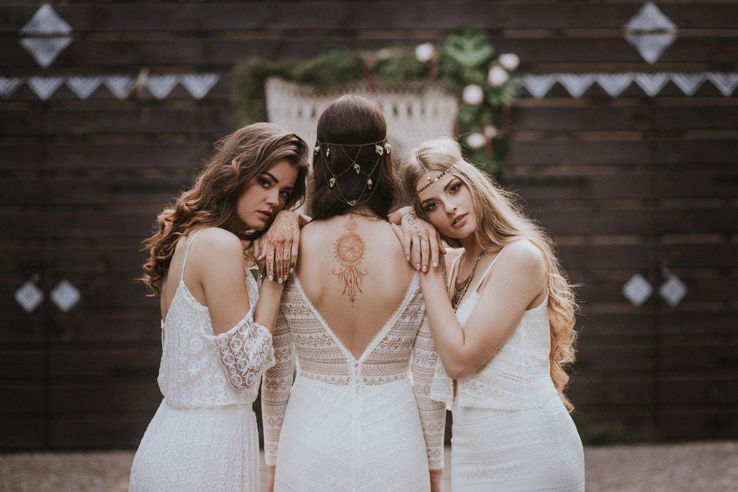 Fragment sesji ślubnej w stylu boho, Koncepcja, stylizacja i dobór wykonawców: Wedding Angels, Zdjęcia: Jagoda Owczarek