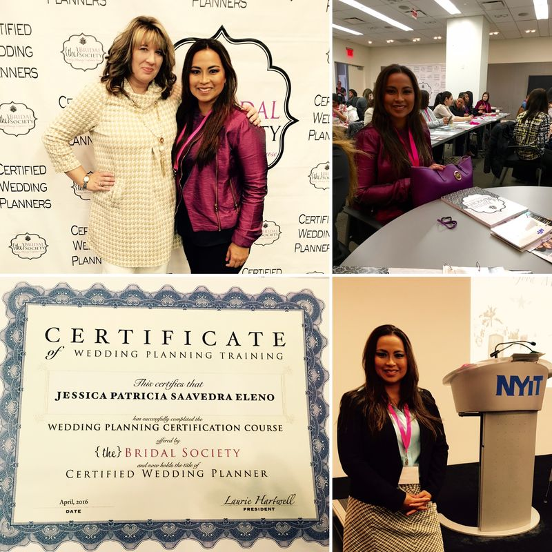 Wedding Planning Certification Course - The Bridal Society  (TBS).    Nueva York, abril 2016