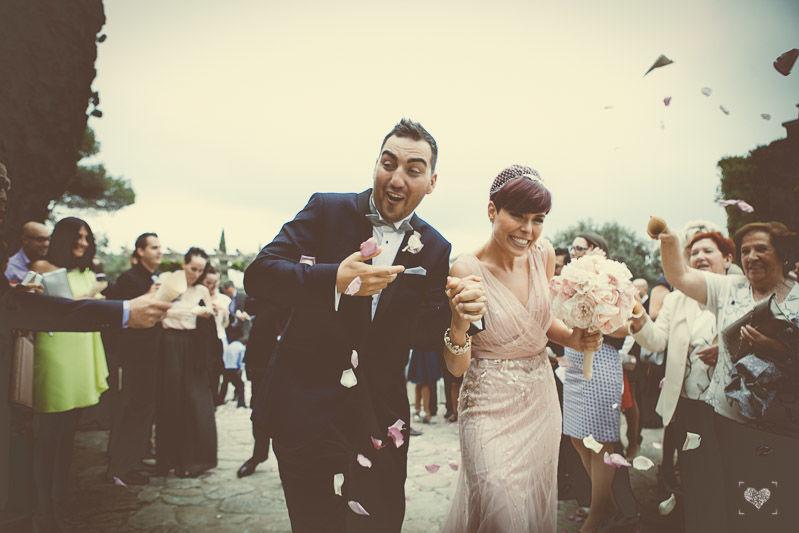La lluvia de pétalos !! Recien Casados, Just Married and we wish they be happy for ever an ever
