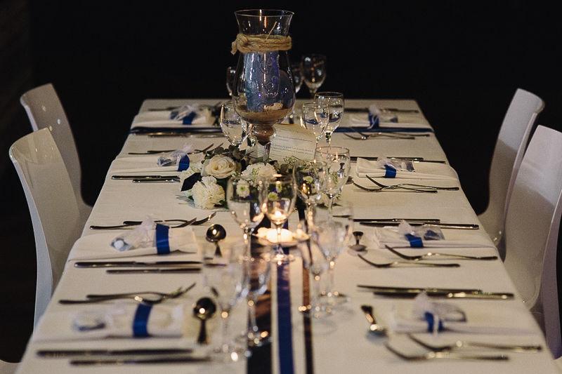 Mariage Martinique bleu roi et blanc
