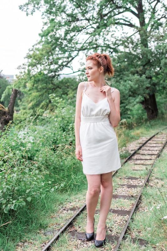 Kaa Couture modèle robe de mariée courte BERENICE