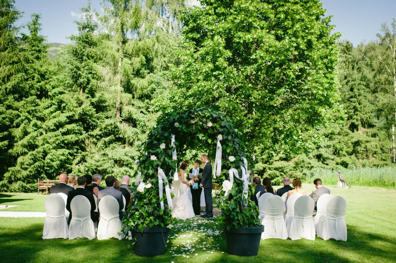 Trauung im Schlosspark
