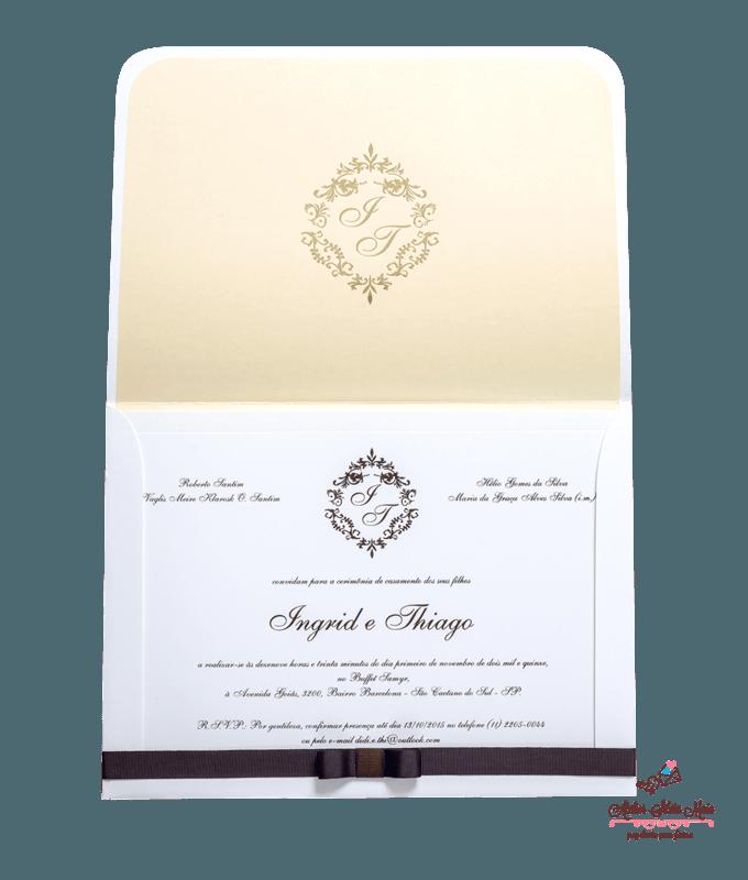 Convite Tradicional - Ref. CS.0165