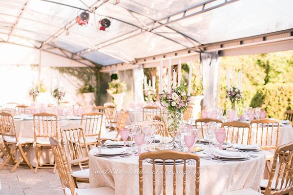 As mesas dos convidados
