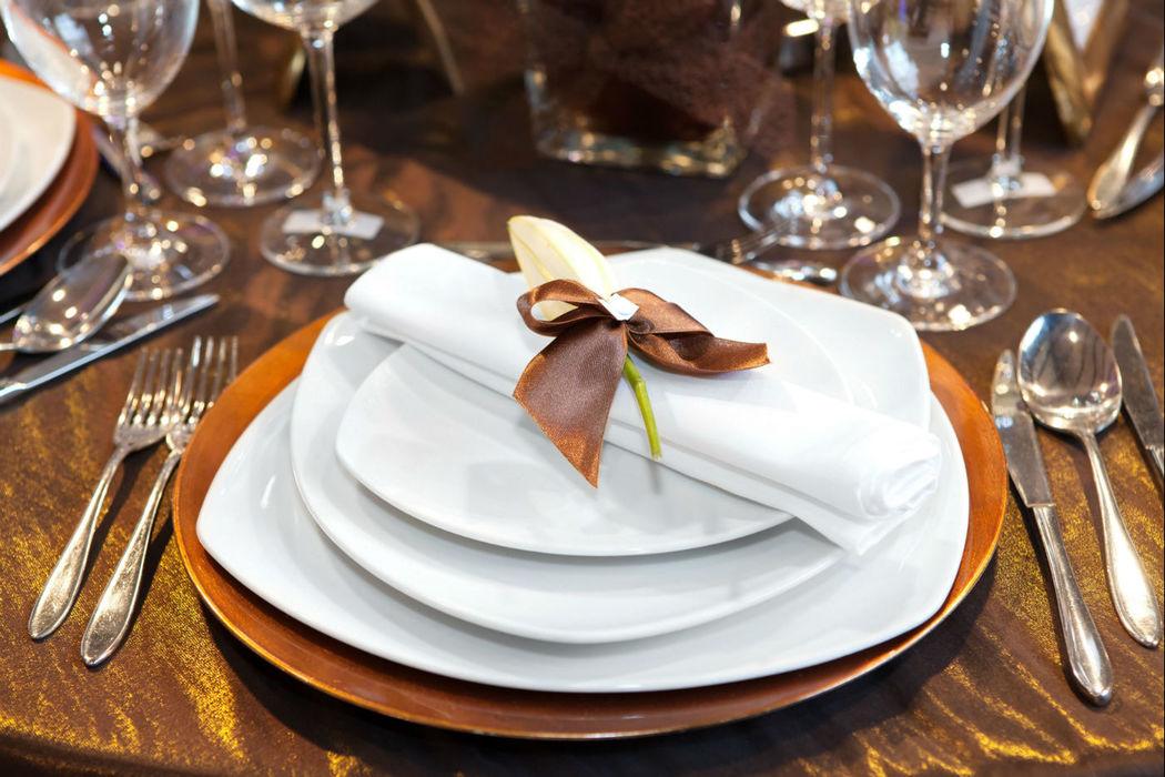 Detalle de mesa para bodas