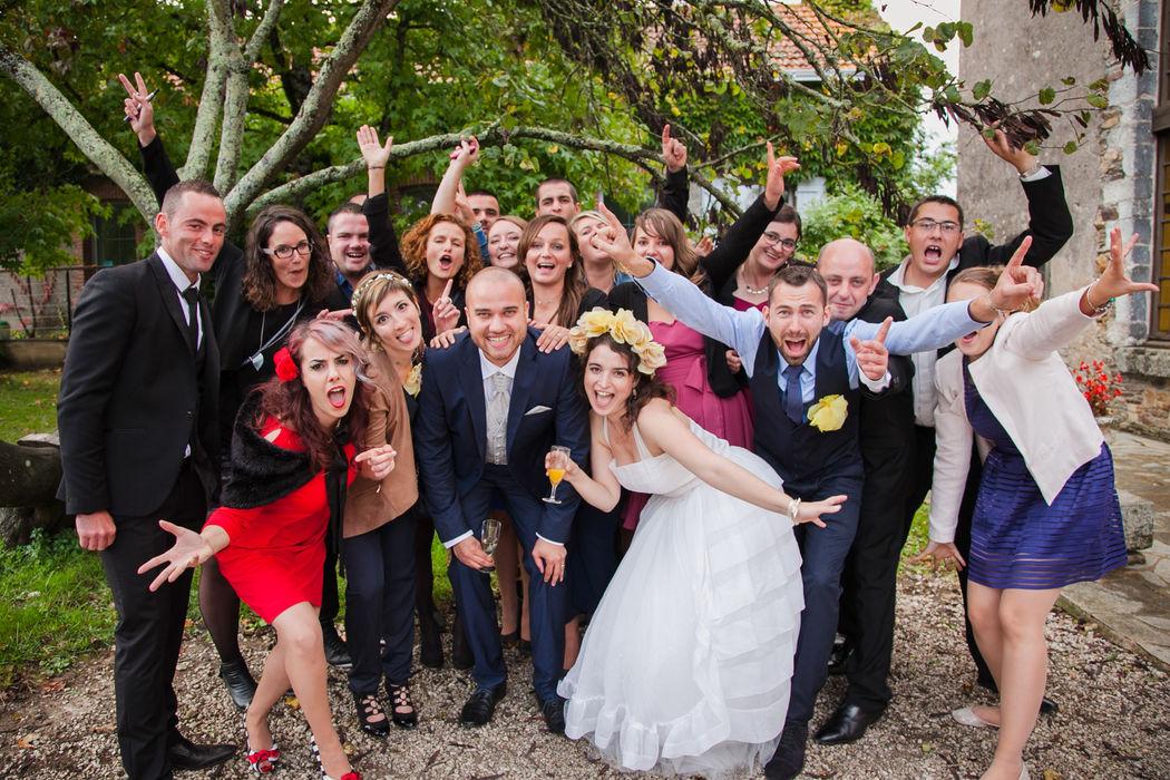 photographe nantes mariage cérémonie vin d'honneur fête témoins amis fun