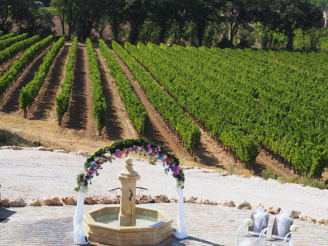 Cérémonie dans les Vignes