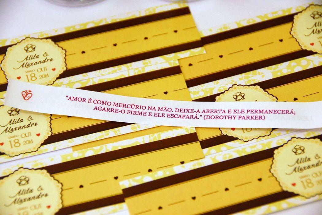 Receitinhas de Alegria - Exemplo de rótulo personalizado do frasco e de mensagem.