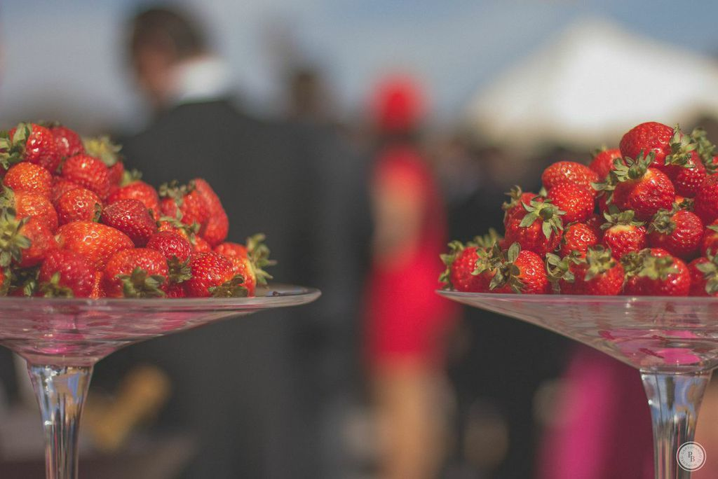 Fresas y Moet Chandon, buena combinación.