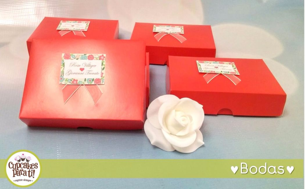 Cupcakes para ti! Cajita con torta para bodas