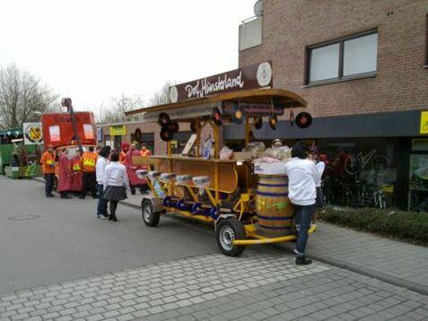 Beispiel: BierBike in Wartestellung, Foto: BierBike Münster.