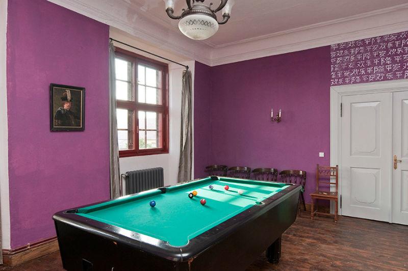 Beispiel: Billiardzimmer, Foto: Schloss Schmarsow.