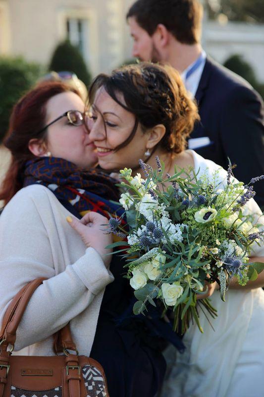 Bouquet bleu et blanc