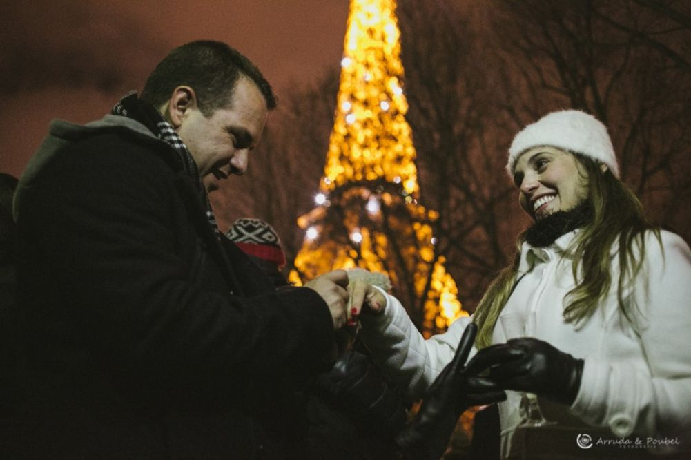 Noivado em Paris - França Arruda e Poubel Fotografia