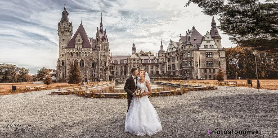 Zamek w Mosznej koło Opola - #ZdjęciaSłomińskiego - Fotografia ślubna / Artysta fotograf ślubny Wrocław.