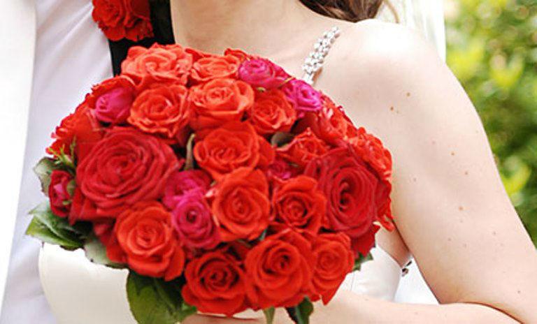 Beispiel: Ihr persönlicher Brautstrauß, Foto: Blumen Dürr.
