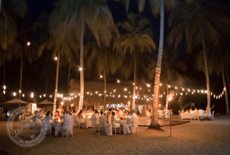 Playa interior Cena de Bodas