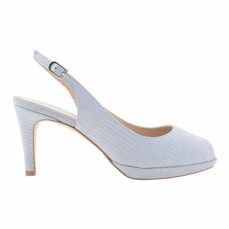 Zapatos destalonados peep-toe piel grabada. Disponible en color gris perla suave mate y rosa clarito.Pespuntes al tono. Tacón de 7 cm forrado en piel lisa al tono. Plataforma delantera de 1 cm de grosor también forrada en piel al tono.  http://www.paulaalonso.es/zapatos-de-fiesta/8082-zapatos-destalonados-peeptoe-piel-grabada.html