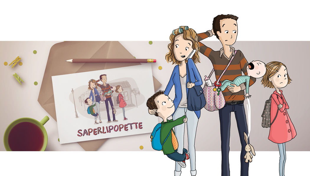 Illustration famille pour association - Marina Gri