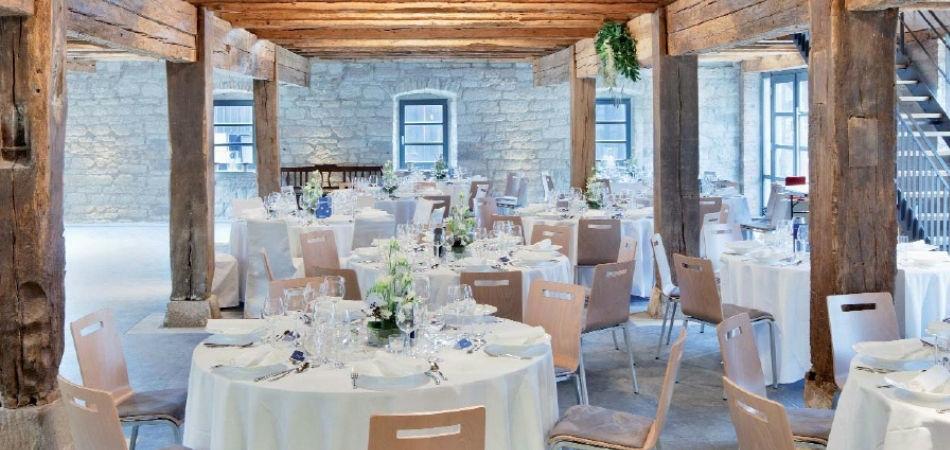 Beispiel: Hochzeitsbankett, Foto: Rauschenberger Eventcatering.