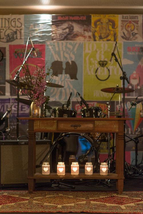 O altar foi feito no palco