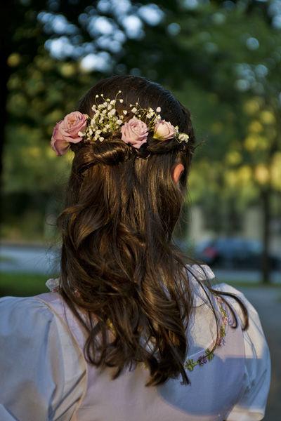 Beispiel: Brautfrisur, Foto: Esther Behrendt.