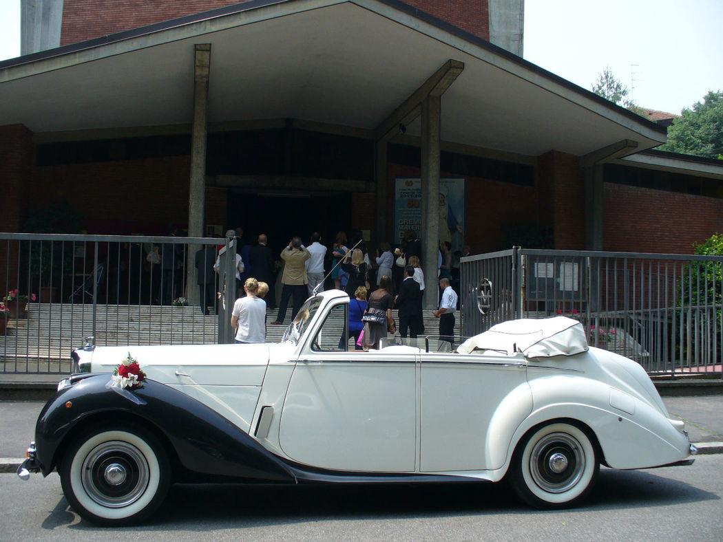 Bentley R-Type cabrio bicolore perla/nero