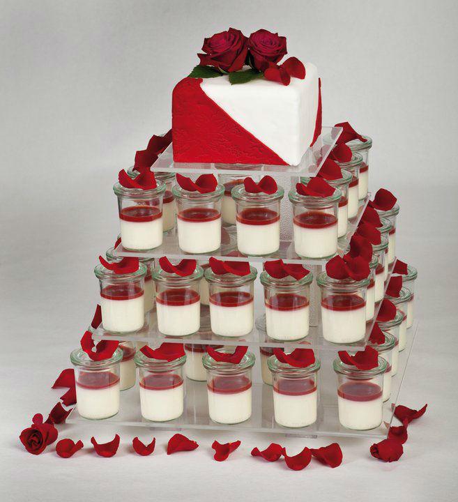 Beispiel: Torten mit mehreren Geschmacksrichtungen zur Auswahl, Foto: Unsere Hochzeitstorte.