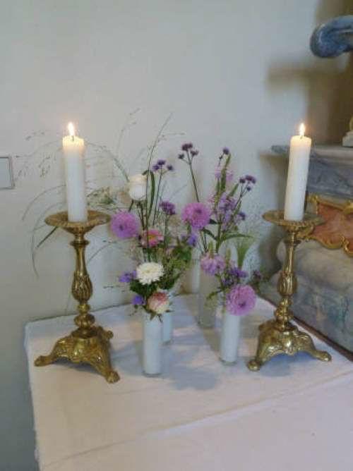 Beispiel: Altarschmuck, Foto: HILS-KOOP Gartenbaumschule & Floristik.