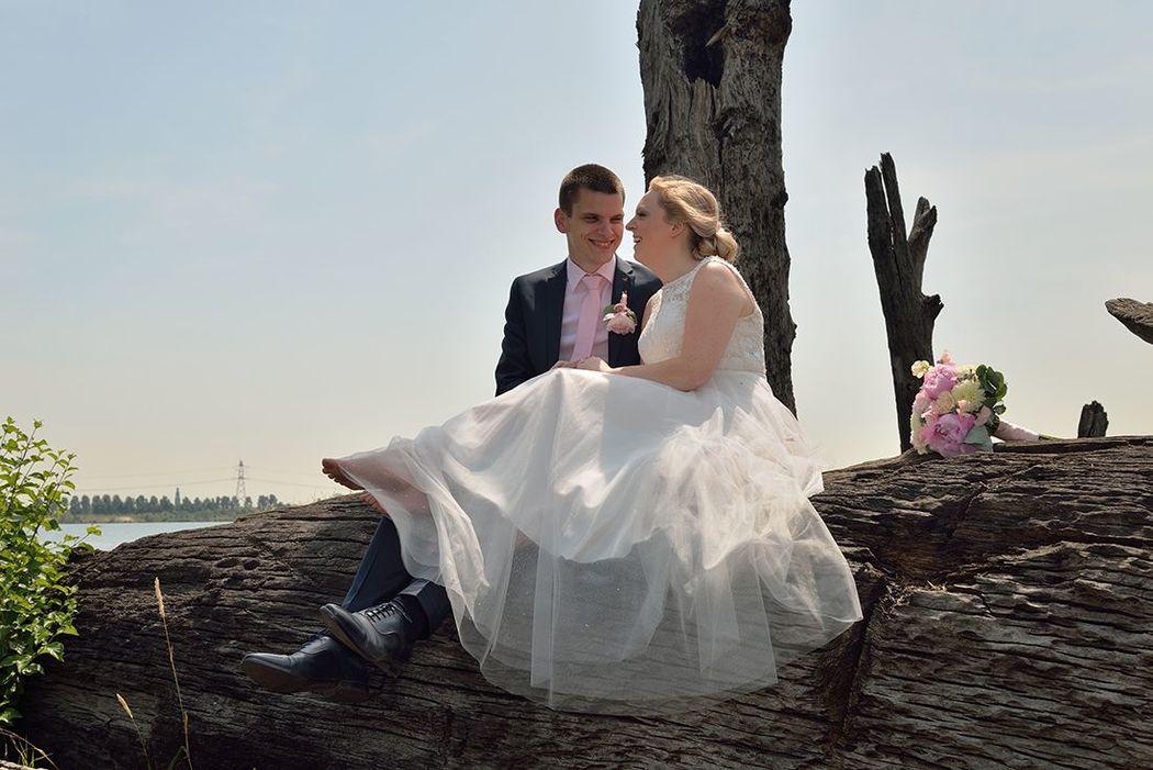 Hier mocht het bruidspaar even lekker uitrusten van mij. (grapje, ik ben niet zo streng haha)
