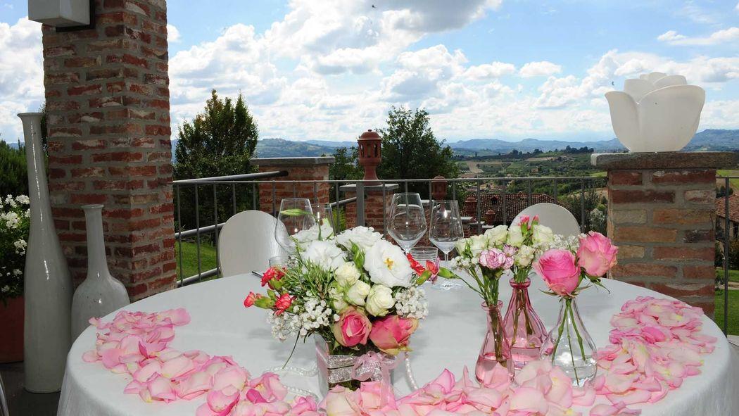 La Madernassa Resort - tavolo sposi con vista