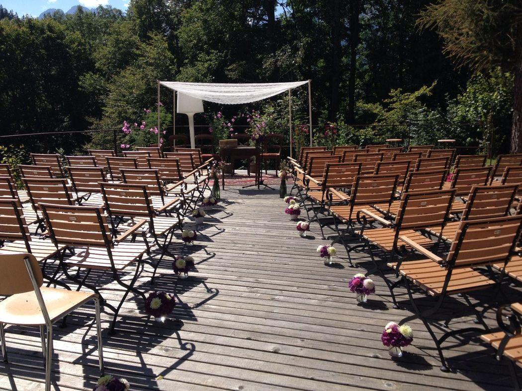 Beispiel: Zeremonie Outdoor Trauung