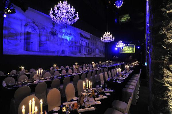 Beispiel: Festsaal - Tafelbestuhlung, Foto: Kurländer Palais.