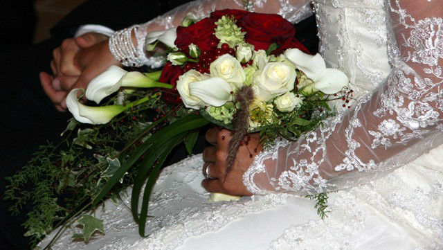 Beispiel: Hochzeitsfloristik, Foto: Blumenwerk.
