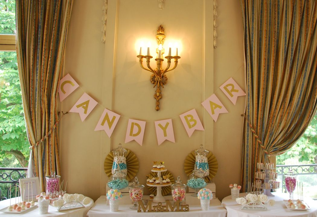 Ma Sweet Table  Location de décoration pour mariage Vintage,  Bohème- & tendance  Herault et Gard  Candy Bar  au Pré Catelan-