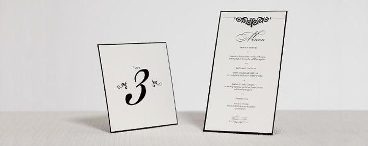 Beispiel: Einladung / Menü, Foto: Der Froschkönig.
