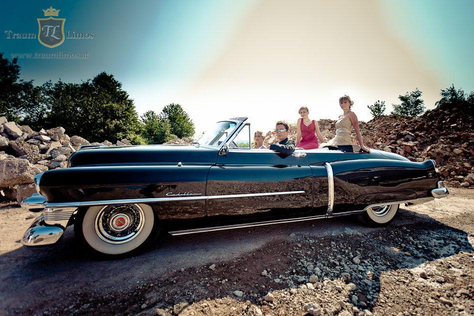 Beispiel: Mit dem Cadillac zur Hochzeit, Foto: Traumlimos.