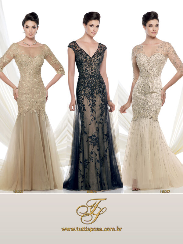 Tutti Sposa - Vestido de Festa - Modelo 115D75 - 115D74 - 115D77