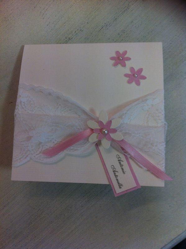 Partecipazione invito per matrimonio con fiorellini